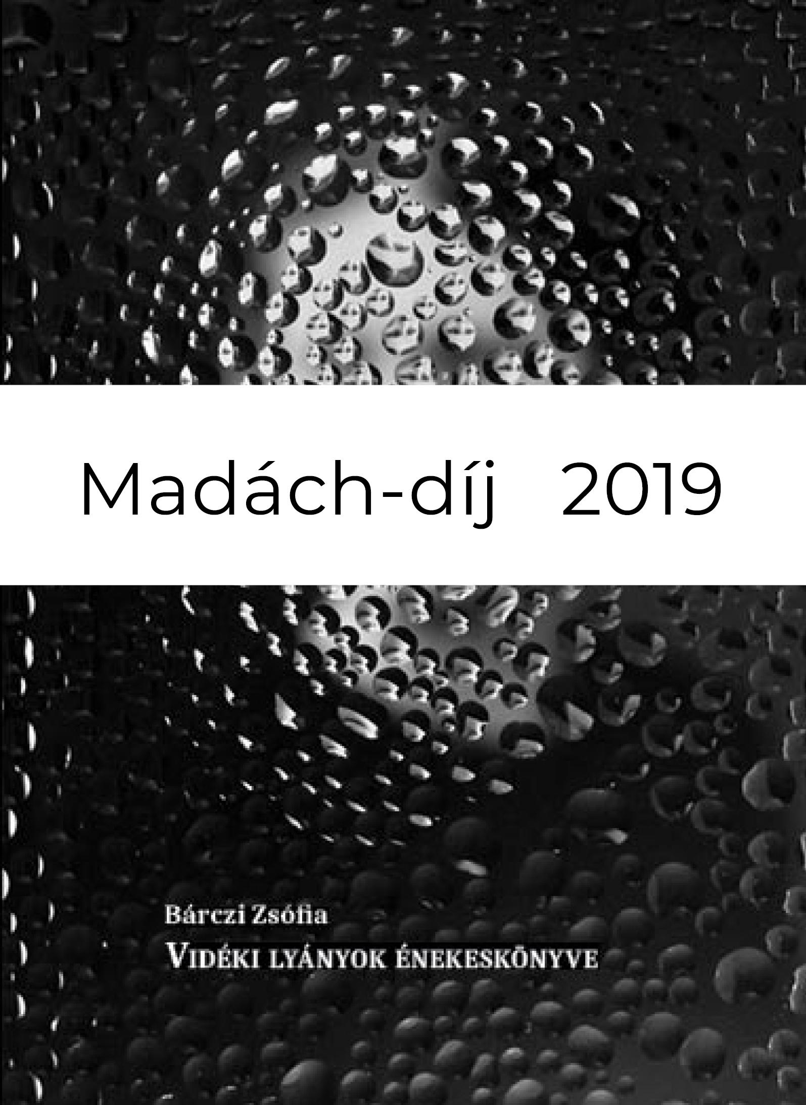 bárczi zsófia vidéki lyánok énekeskönyve madách-díj 2019